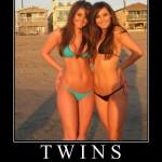 Des jumelles