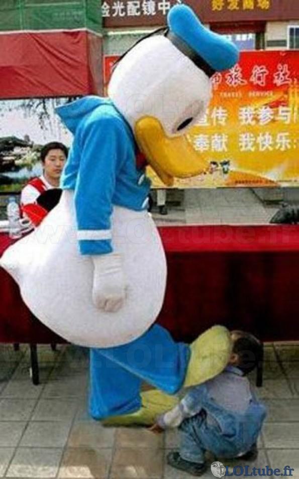 Donald Duck n'aime pas les gosses