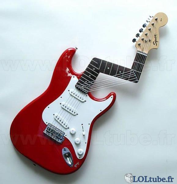 Guitare pas facile à utiliser