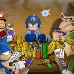 Mario Sonic Link and co jouent au poker