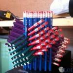 Structure en crayons