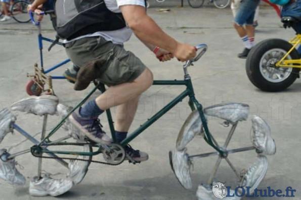 Vélo en chaussures