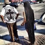 De très longs cheveux