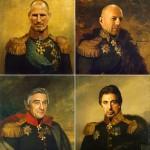 Des célébrités à la place de généraux Russes