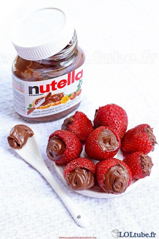 Fraises au Nutella