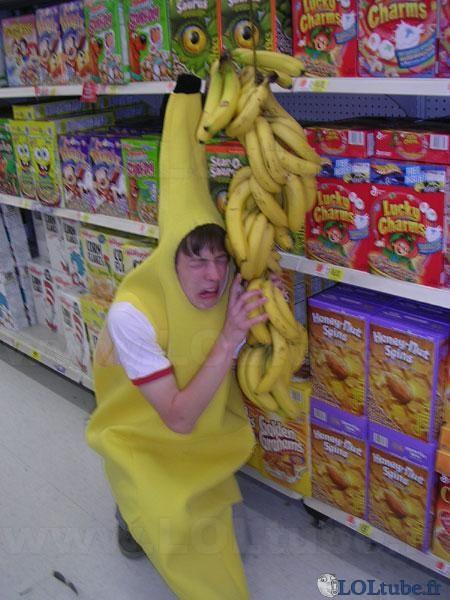 Monsieur Banane triste pour ses congénaires