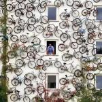 Mur de vélos