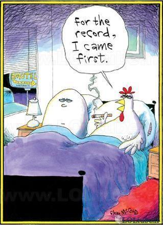 Qui de la poule ou l'oeuf est venu en premier