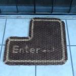 Tapis de porte pour geek
