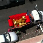 Un camion de bites dorées