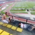 Baignade dans un stade