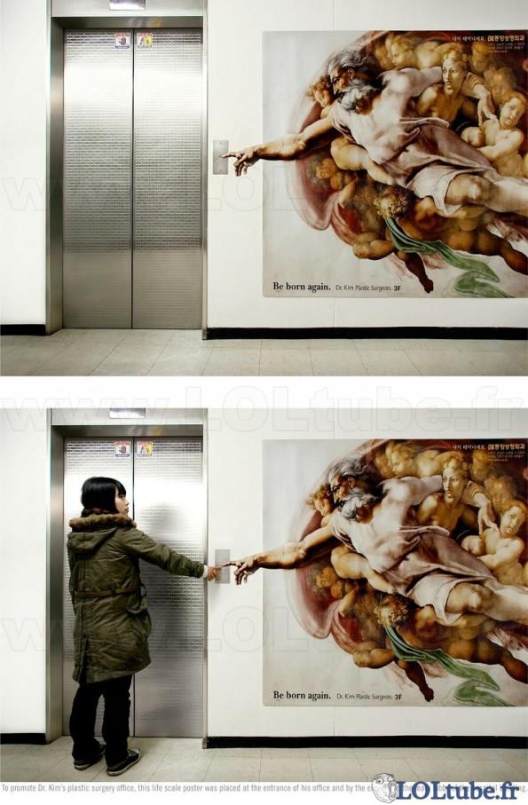 Dieu appelle l'ascenseur