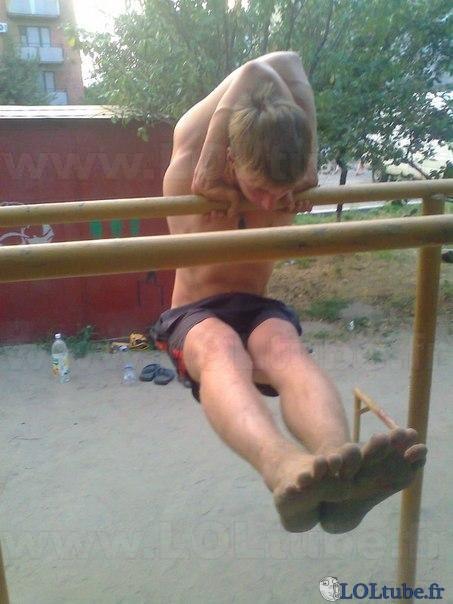 Drôle de façon de faire de la gymnastique