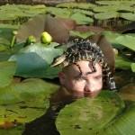 Nage avec les bébés aligator