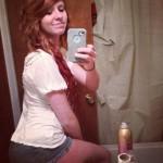 Photo dans sa salle de bain