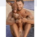 Photo douteuse avec son chien