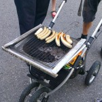 Poussette convertie en barbecue