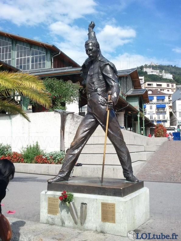 Statue en l'honneur de Freddie Mercury