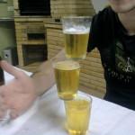 Bière en équilibre