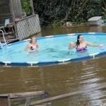 Dans une piscine