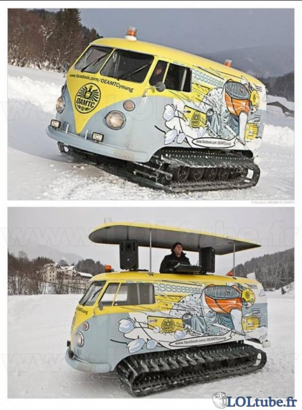 DJ mobile à la neige