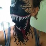 Maquillage côté maléfique de Spiderman