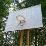 Panier de basket étrange