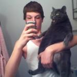 Photo de genius avec son chat