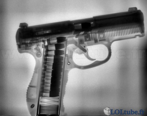 Radio d'un pistolet