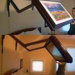 Télé tableau au dessus du lit