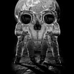 Un crane en astronautes