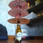 Chateau de cartes sur bière