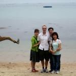 Photobomb sur la plage
