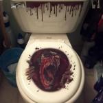 Toilettes zombie