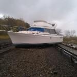 Un bateau sur rails