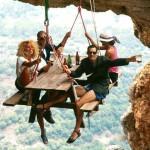 Pique nique d'alpiniste