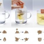 Sachet de thé qui change de forme