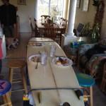 Table improvisée