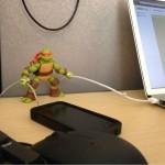 Une tortue ninja recharge vos iTrucs