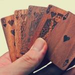 Cartes à jouer en bois
