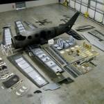 Démontage d'un avion