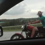 J'ai pas de casque de moto