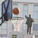 Panier de la statue !