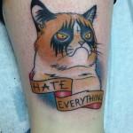 Tatouage Grumpy Cat