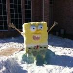 Bonhomme de neige Bob l'Eponge !