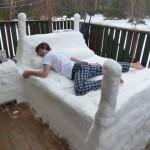 Dans un lit de neige