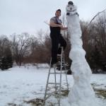 Bonhomme de neige version girafe