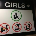 Ce qu'il faut faire dans les toilettes