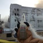 Un incendie en russie