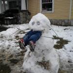 Bonhomme de neige mangeur d'enfant